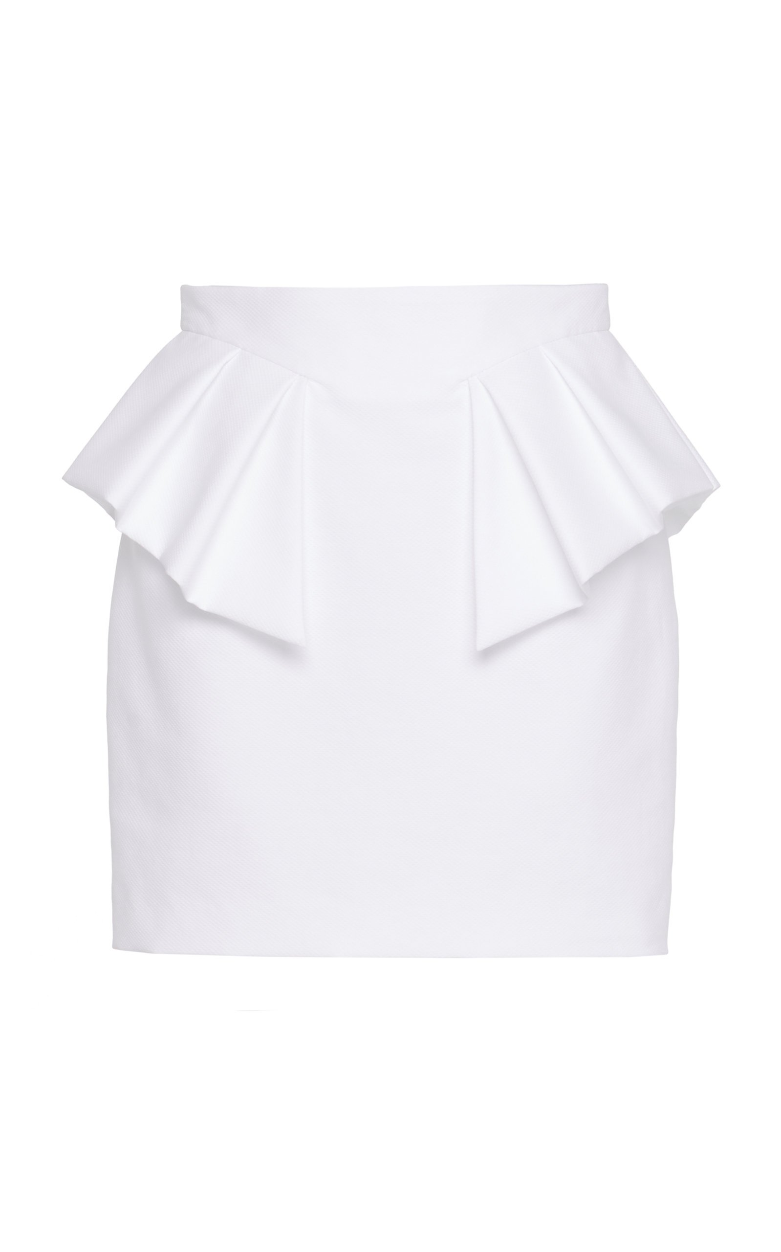 Alexandre Vauthier Cotton Poplin Mini Skirt
