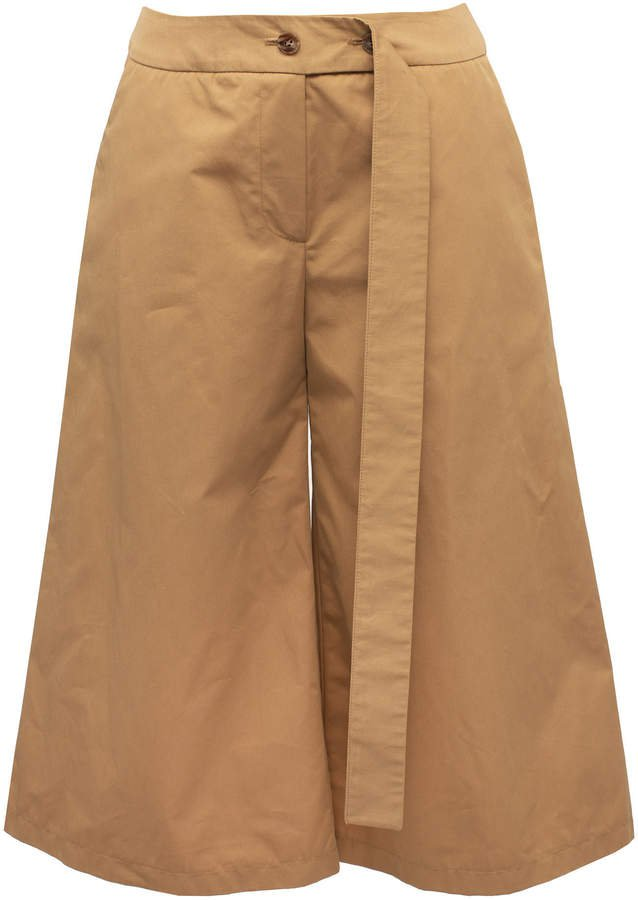 Lake Studio Belted Cotton Shorts Size: 38