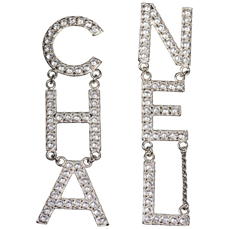 Chanel 2019 Costume Jewelry Earrings CHANEL - silver-light-gold For Sale at 1stdibs