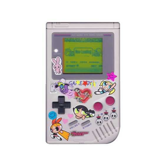 gameboy with stickers