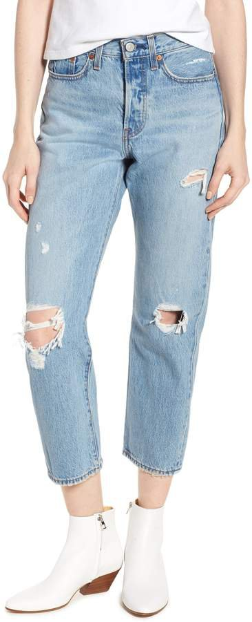 Wedgie Ripped Straight Leg Jeans