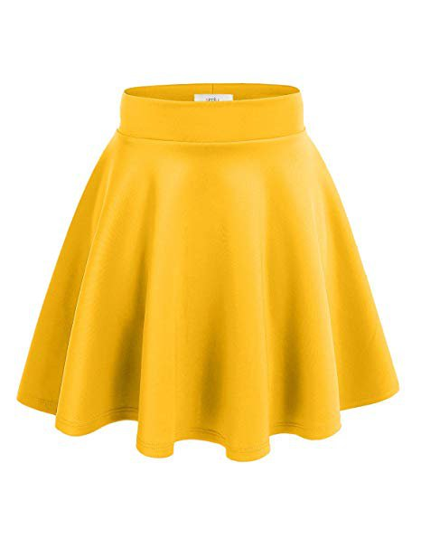 skater skirt 03 yellow