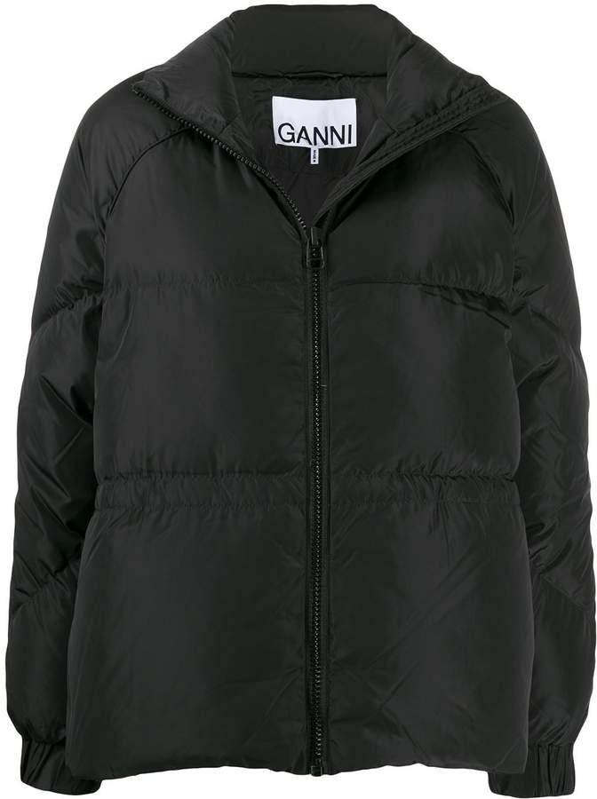 relaxed fit puffer jacket