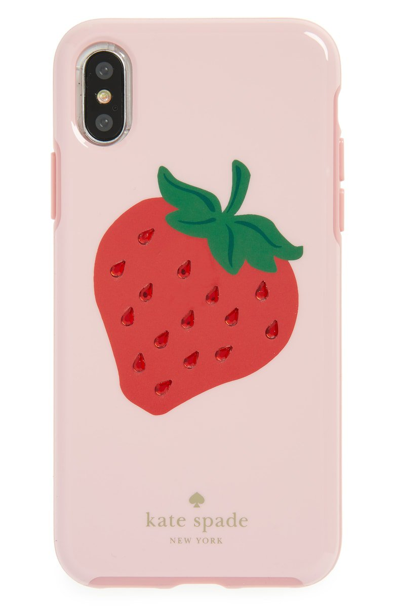 kate spade new york jewel strawberry iPhone X case