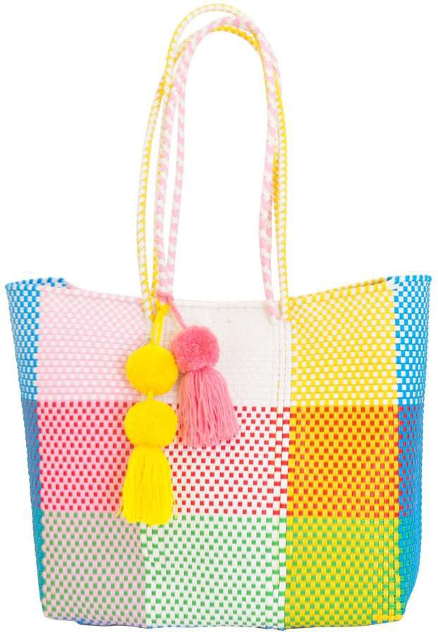Soi 55 - Beatriz Shopper Tote Rainbow Check