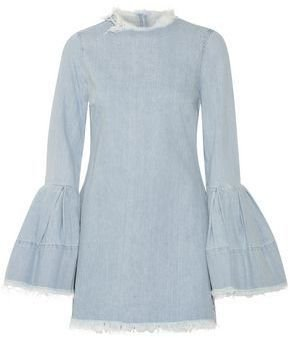 Marques Almeida Frayed Denim Mini Dress