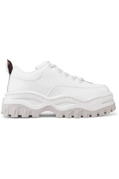 Eytys | Angel patent-leather platform sneakers | NET-A-PORTER.COM
