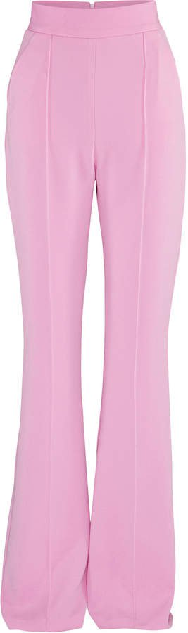 Leighton Flare-Leg Crepe Pants