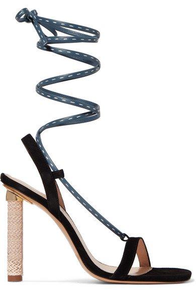 Jacquemus | Bergamo suede and leather sandals | NET-A-PORTER.COM