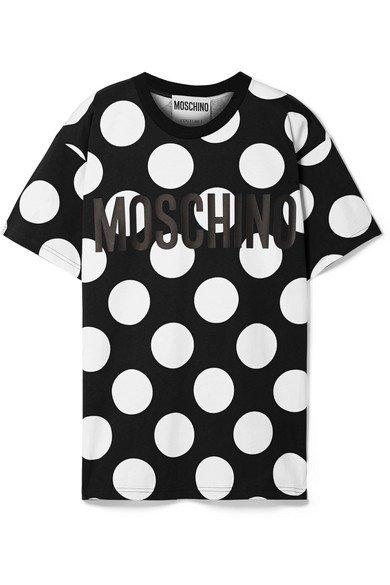 Moschino | Oversized printed cotton-jersey T-shirt | NET-A-PORTER.COM