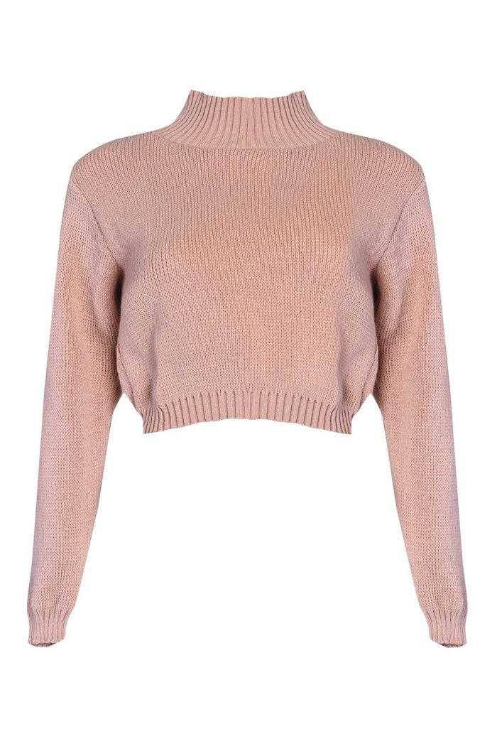 **High Neck Knitted Jumper by Glamorous | Topshop