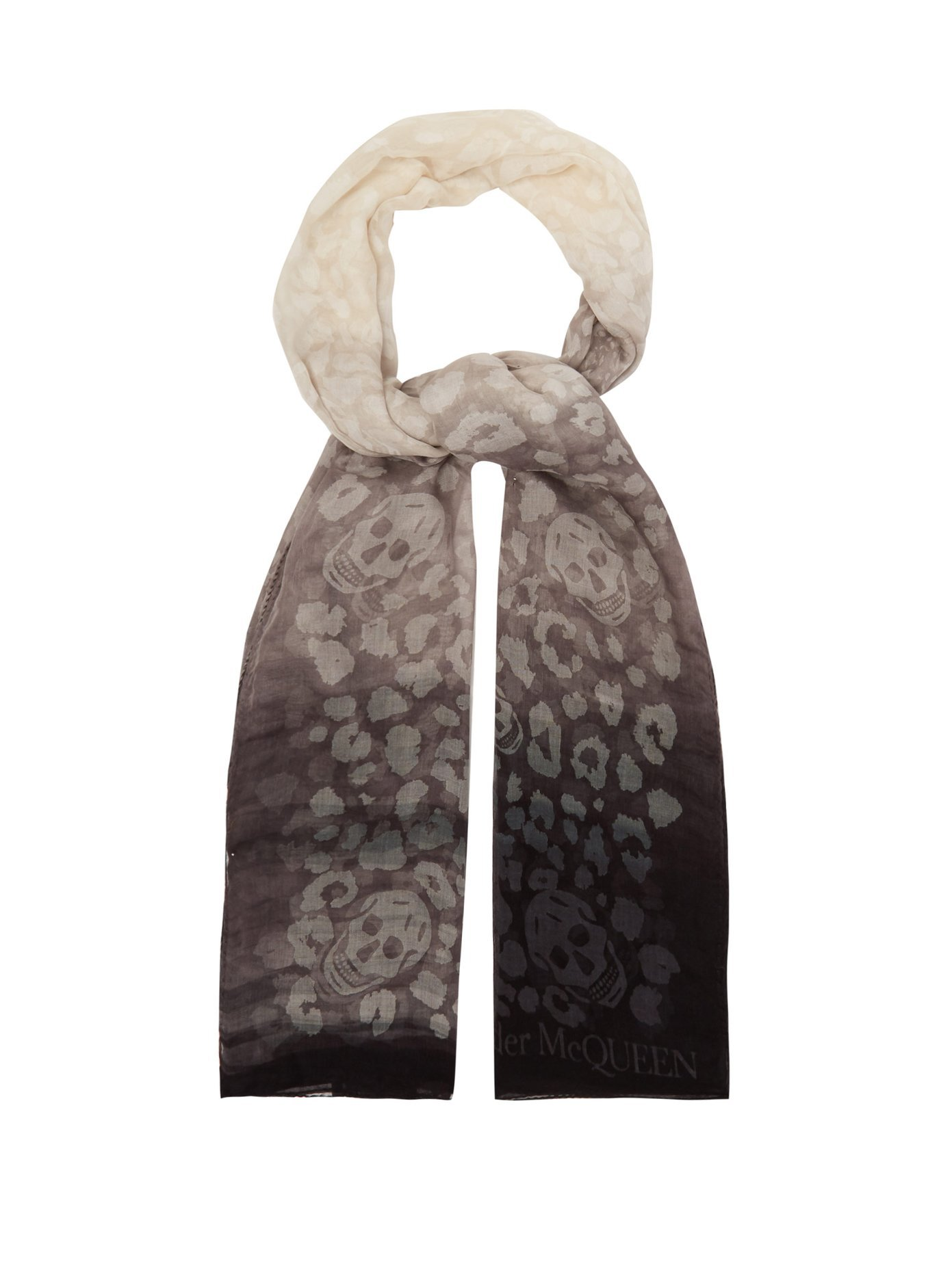 Skull-print silk-blend ombré scarf   Alexander McQueen   MATCHESFASHION.COM