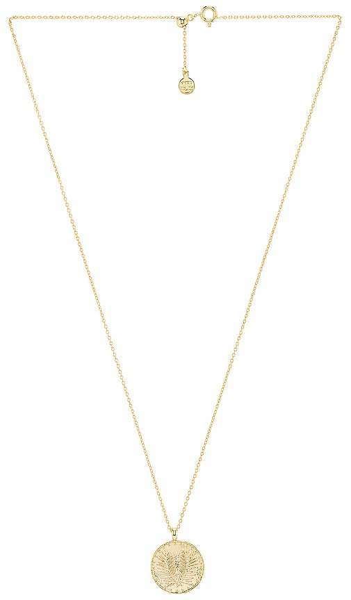 gorjana Palm Coin Necklace in Gold | REVOLVE