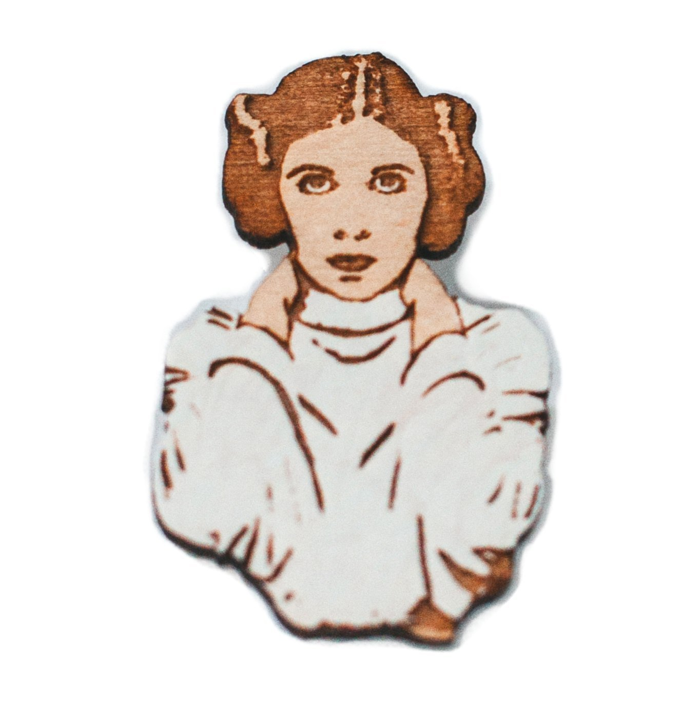 Princess Leia Hand-Painted Star Wars Pin | Carrie Fisher Rebel Alliance Brooch [1541010870-304354] - $6.24