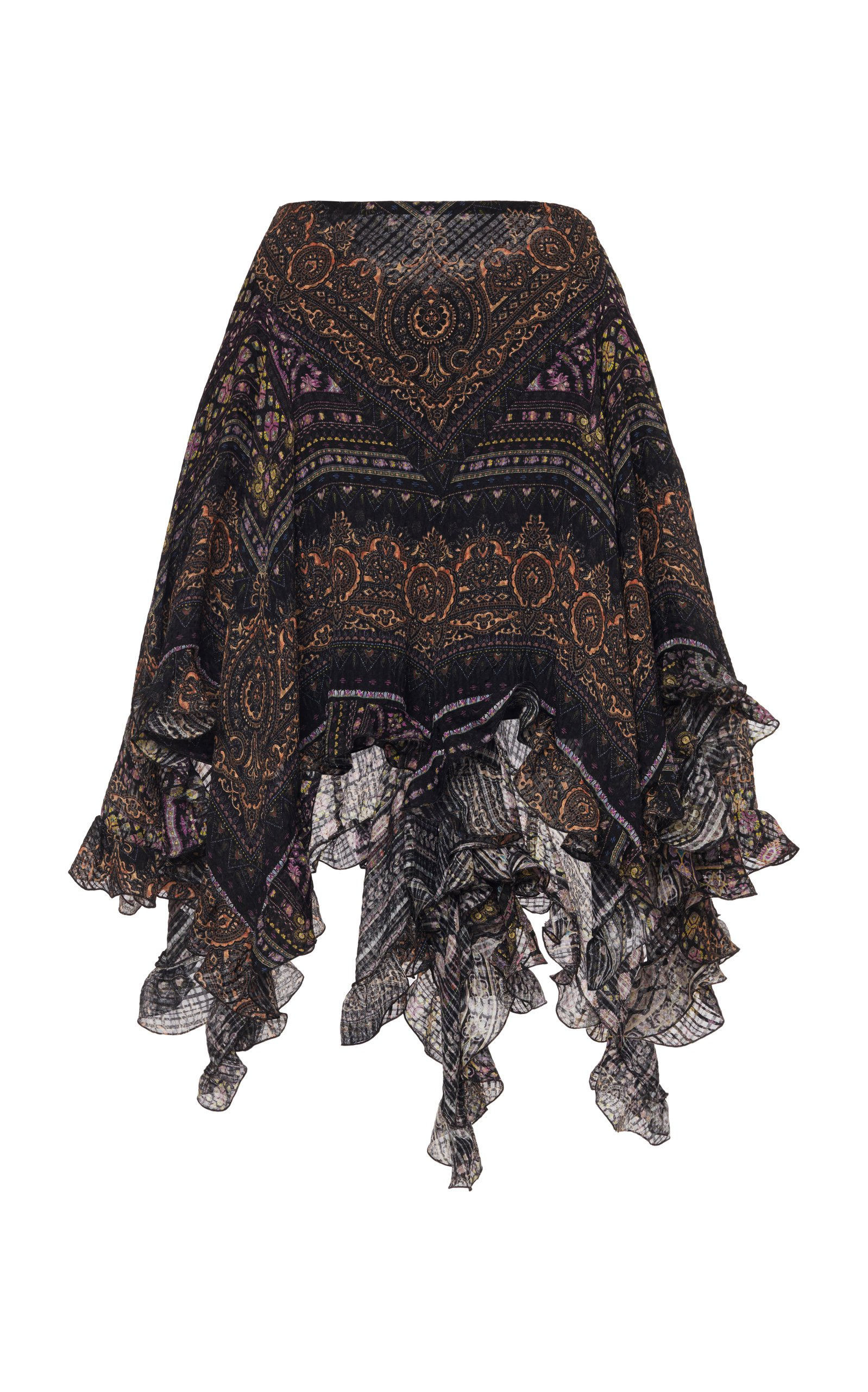 Etro Printed Silk Gauze Skirt Size: 42