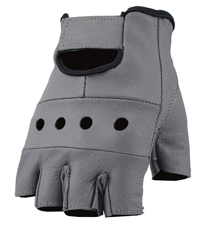 Women's Leather Fingerless Gloves
