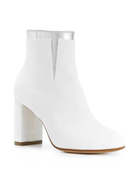Mm6 Maison Margiela Metallic Detail Ankle Boots $896 - Buy Online - Phenomenal Luxury Brands, Fast Delivery