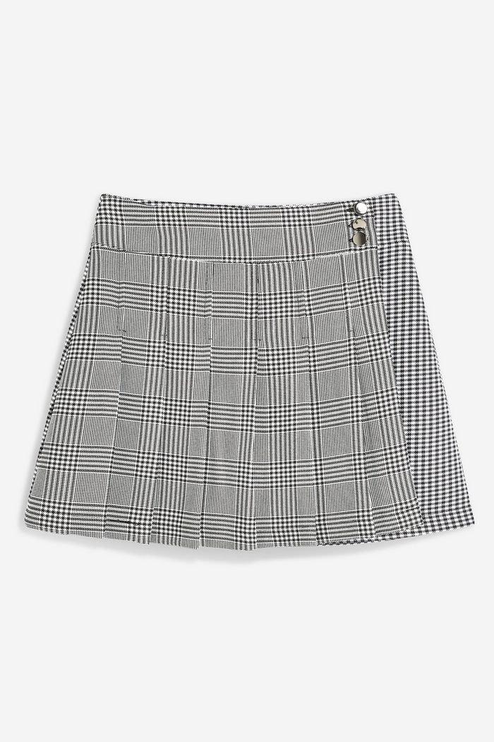 PETITE Monochrome Check Kilt Skirt   Topshop