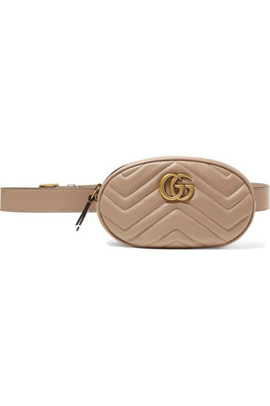 Gucci | GG Marmont quilted leather belt bag | NET-A-PORTER.COM
