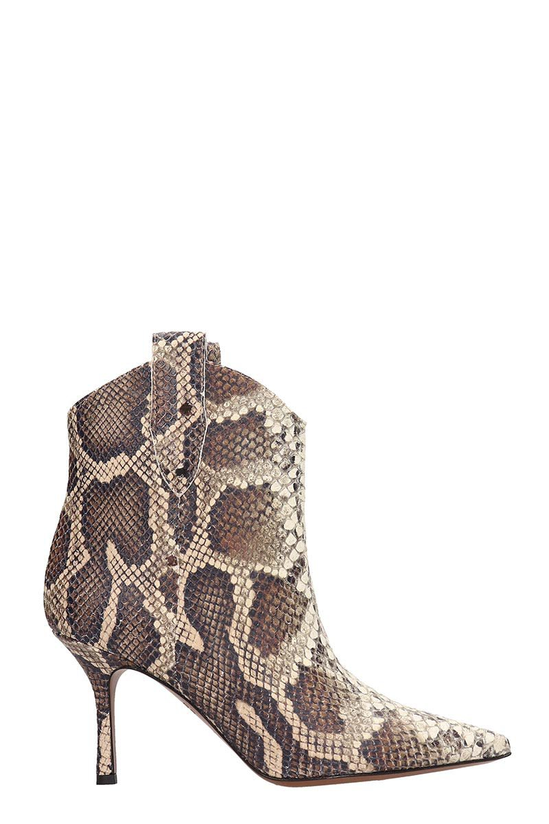 Marc Ellis Browne And White Leather Ankle Boots
