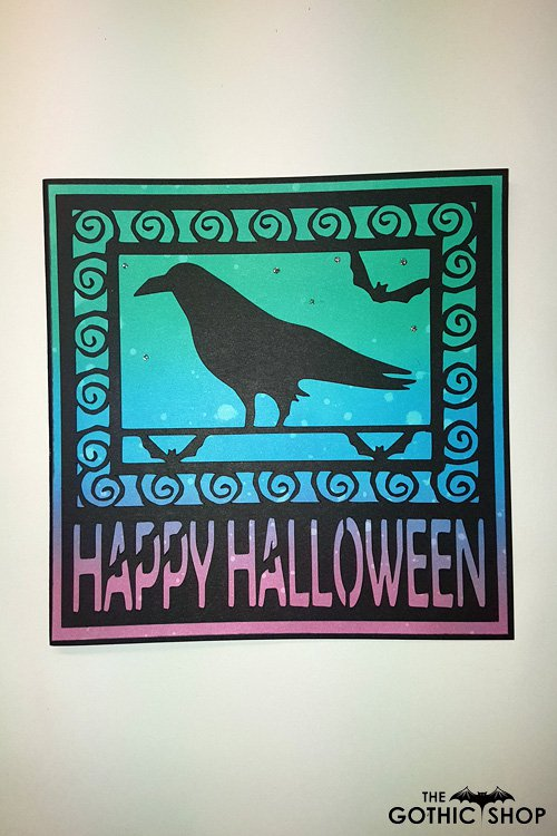 Raven Papercut Happy Halloween Handmade Card | Gifts & ware