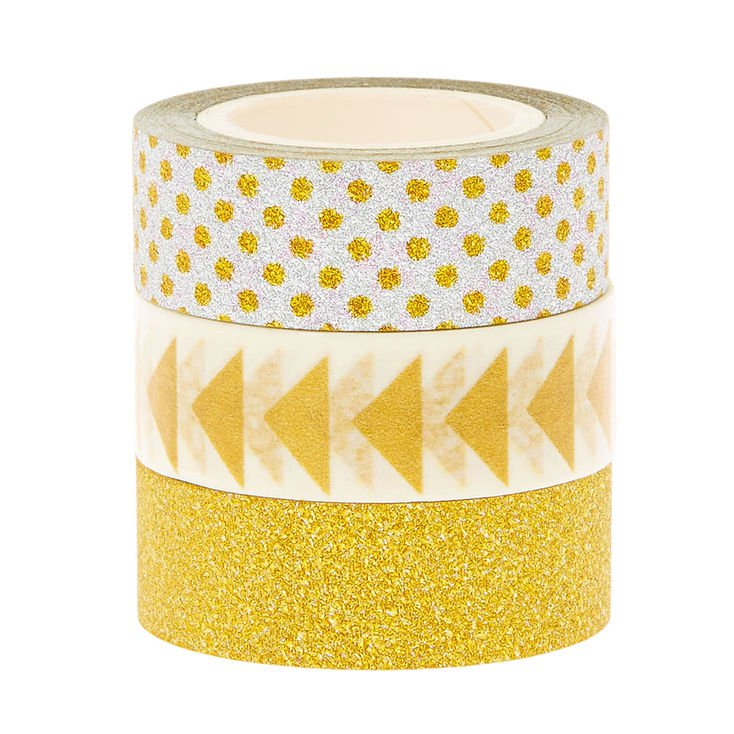 Silver & Gold Decorative Tape - 3 Pack   Claire's