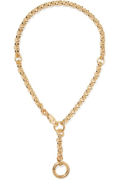 Laura Lombardi | Rina gold-plated necklace | NET-A-PORTER.COM