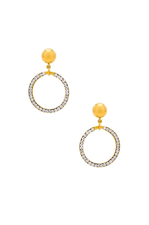 Crystal Circle Earrings