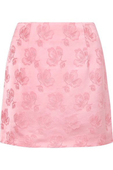 ALEXACHUNG   Satin-jacquard mini skirt   NET-A-PORTER.COM
