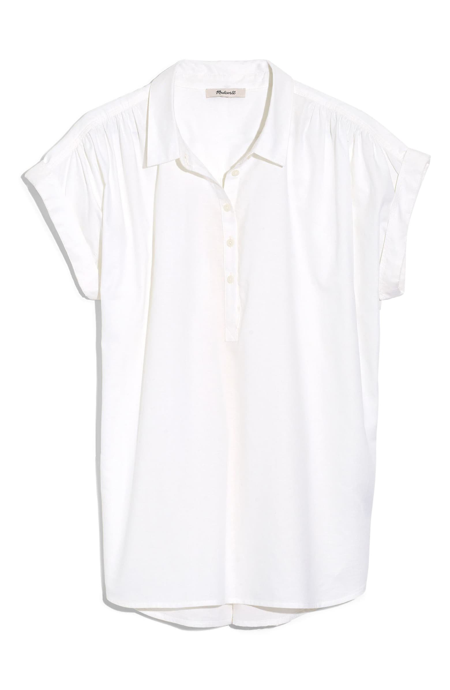 Madewell Eyelet White Central Popover Shirt white