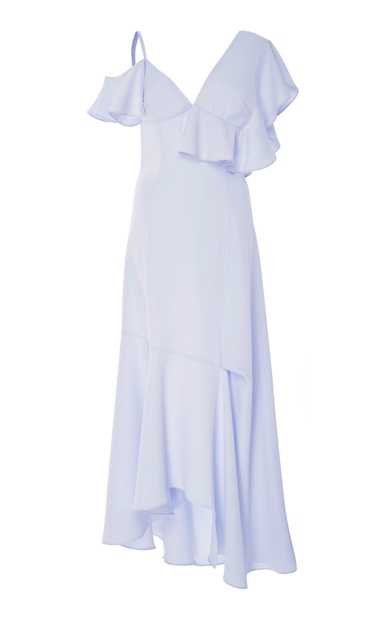Adeam Asymmetrical Ruffle Dress