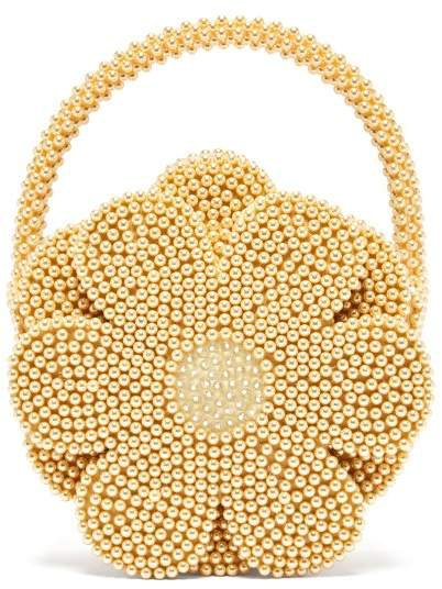 Buttercup Faux Pearl Embellished Bag - Womens - Yellow
