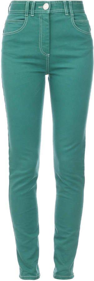 Balmain High-Rise Monogram-Detailed Skinny Jeans Size: 34