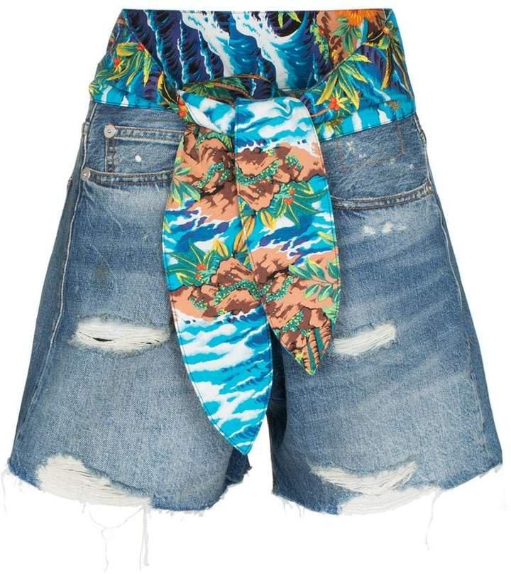 Jasper tie-waist denim shorts