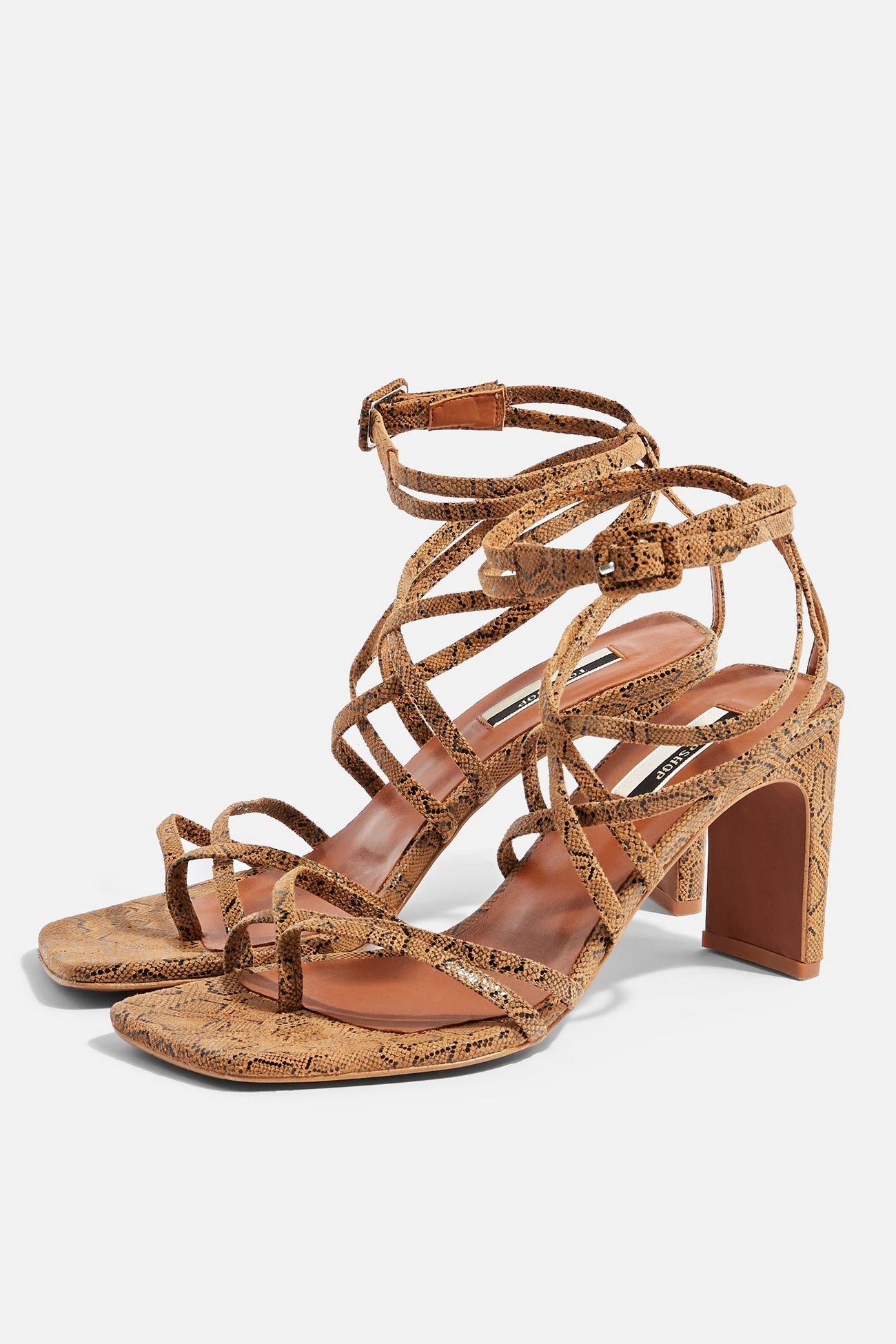 RAJA Natural Strap Mid Sandals | Topshop