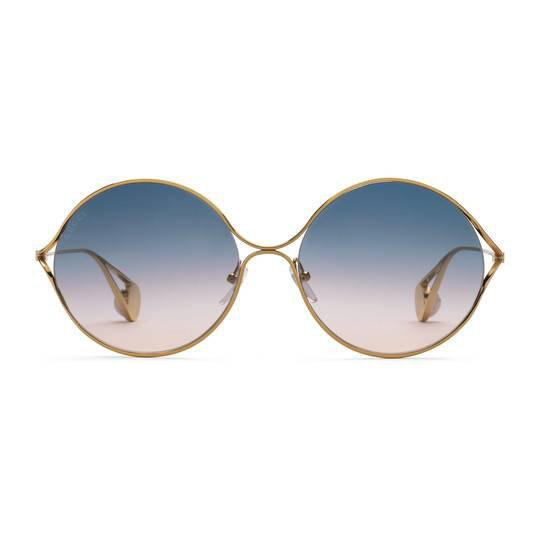 Round-frame metal sunglasses - Gucci Women's Round & Oval 506149I03308846