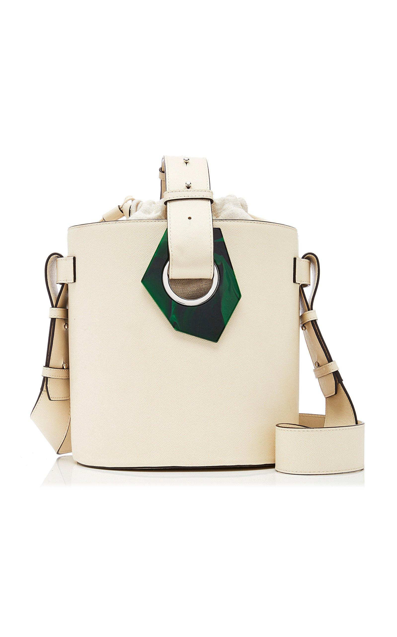 Ganni Leather Bucket Bag