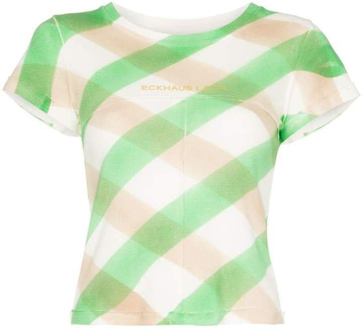 Lapped Baby check print T-shirt