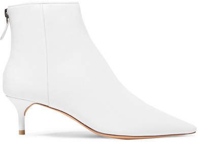Kittie Leather Ankle Boots - White