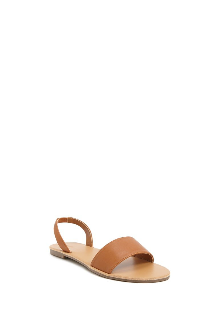 Faux Leather Slingback Sandals | Forever 21