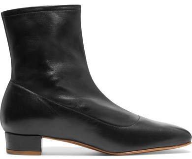 Este Leather Ankle Boots - Black