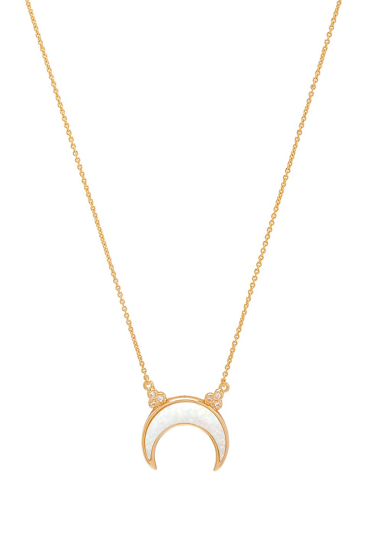 Titania Opal Crescent Necklace