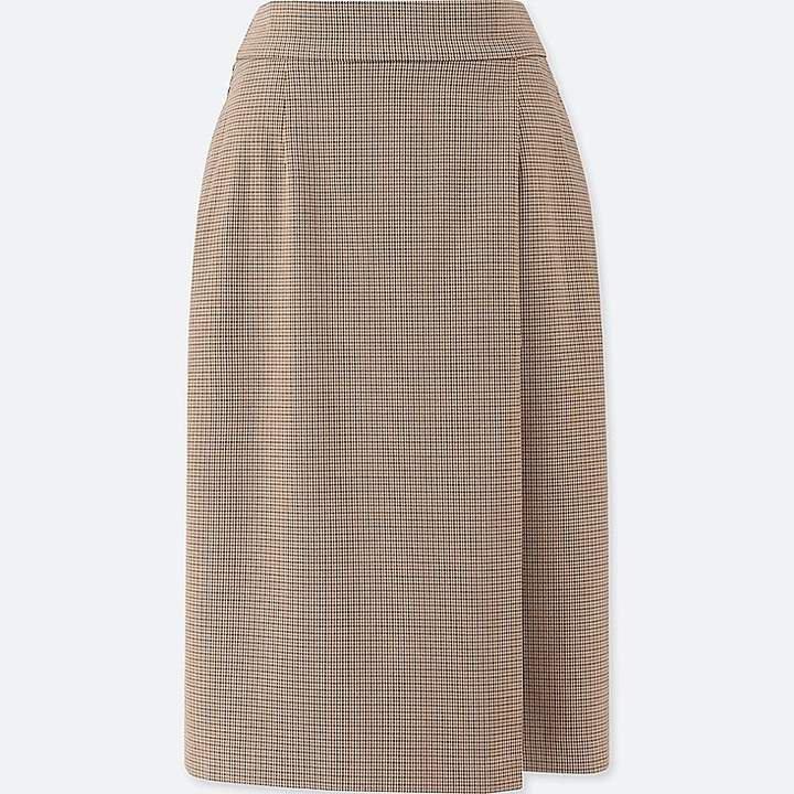 Women's Checked Narrow Skirt