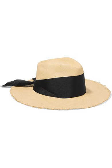 Sensi Studio   Grosgrain-trimmed toquilla straw Panama hat   NET-A-PORTER.COM