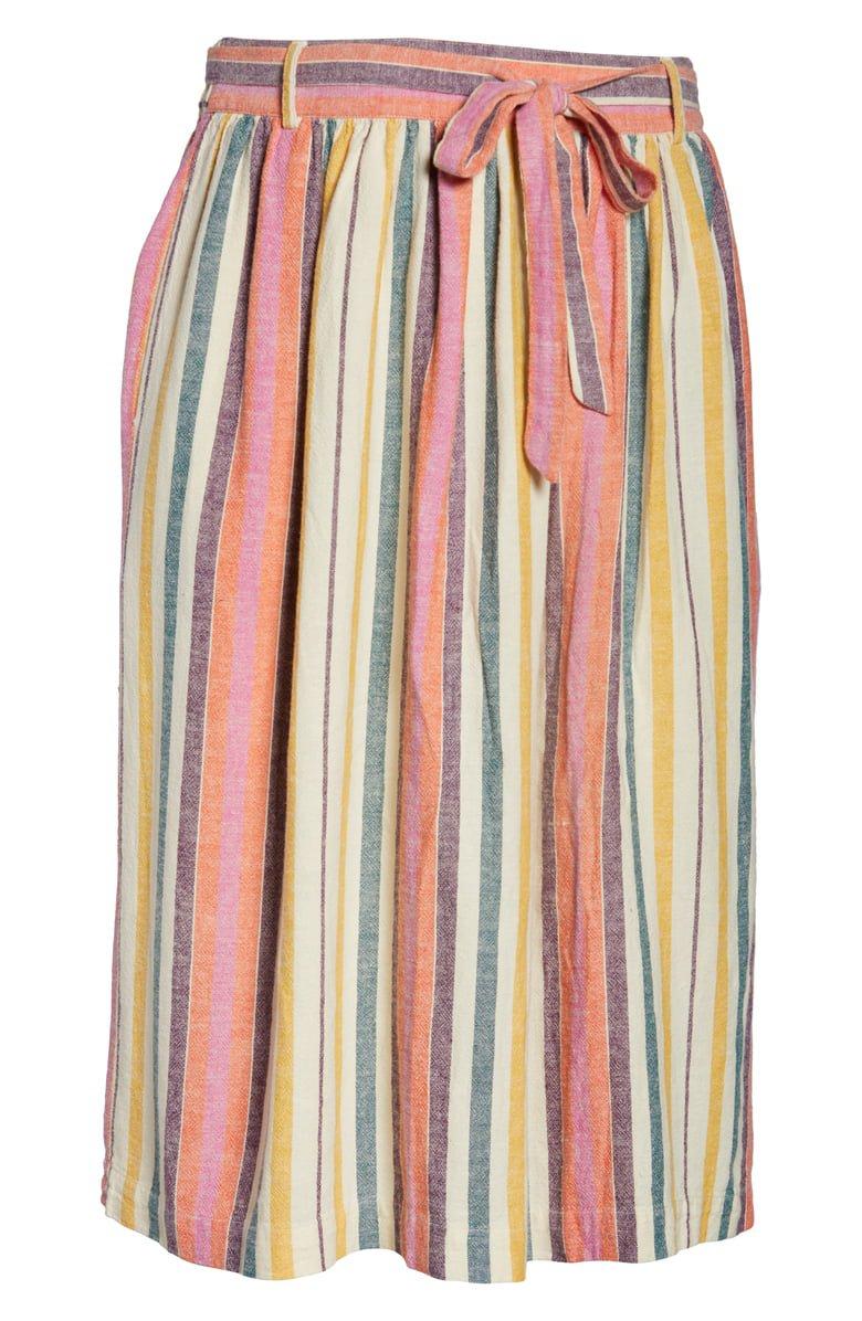 BP. Stripe Midi Skirt (Plus Size) | Nordstrom