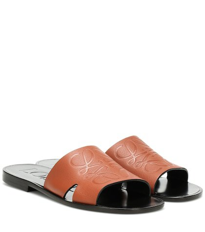 Anagram leather slides