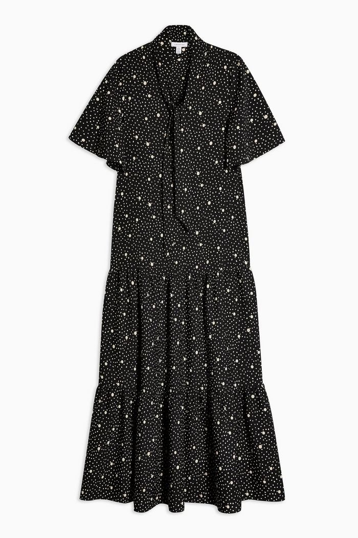 Spot Print Dress | Topshop black