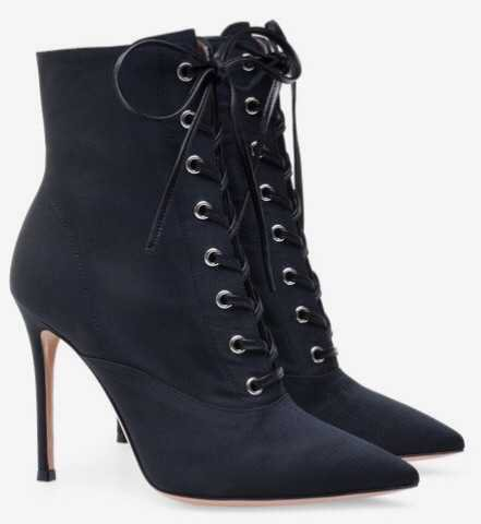 black lace up boots heel heels heeled lace-up high pump boot bow tie tied shoes shoe