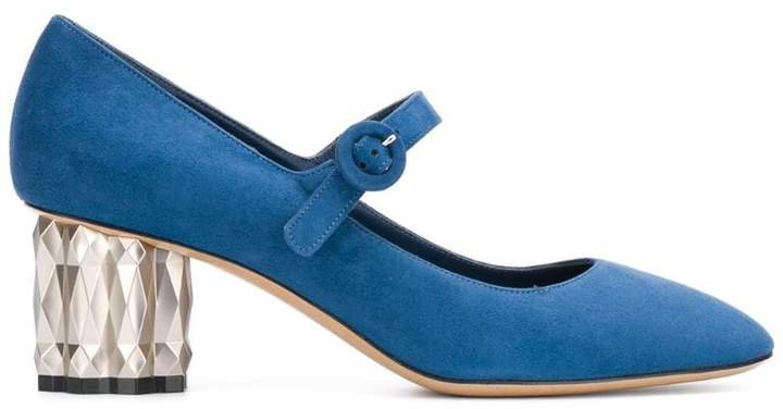 block-heel mary jane pumps