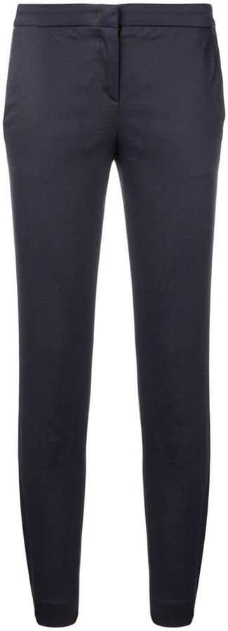side stripe slim trousers